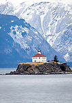 Lighthouse on Alaska's Inside Passage, via ferry