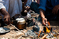 Egypt - Bedouin nomads making coffee