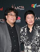 3 January 2020 - West Hollywood, California - Bong Joon Ho, Song Kang Ho. 9th Annual Australian Academy Of Cinema And Television Arts (AACTA) International Awards  held at SkyBar at the Mondrian. Photo Credit: FS/AdMedia