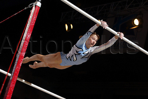 09.11.2003 Marseille, France. Marina Proskurina (Ukraine) uneven bars. Massilia Gymnastics Cup 2003