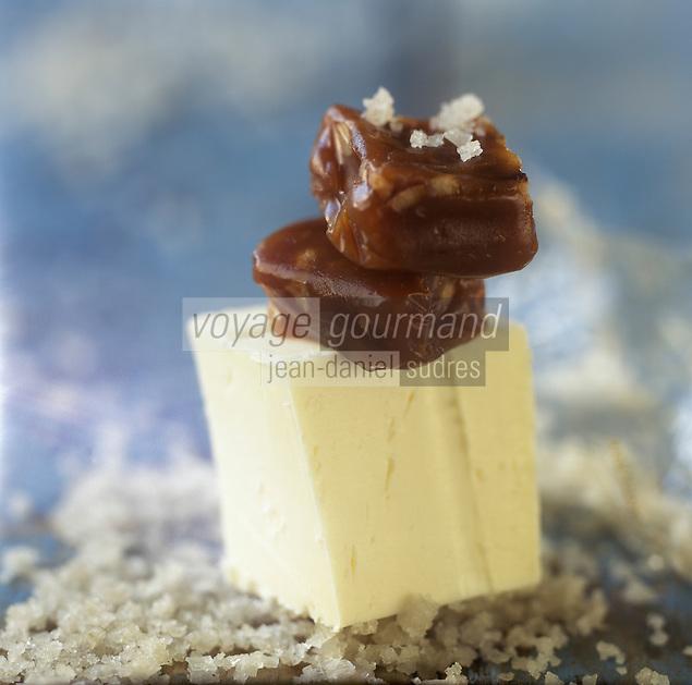 Europe/France/ Bretagne/56/Morbihan/ Quiberon: Caramels  au beurre salé CBS de chez Henri  Le Roux Chocolatier- Caramélier - Stylisme : Valérie LHOMME
