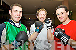 Fight Night - St Michaels Foilmore GAA will hold a White Collar Boxing Night at The Ring of Kerry Hotel on Saturday 25th February, there will be 12 fights on the night, with many of the senior squad and a few special guest taking part, pictured here l-r; D.J. Moran, Colin Grandfield & Adrian O'Connell.