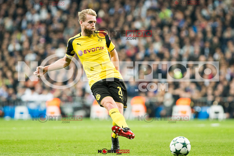 Borussia Dortmund Andre Schurrle  during Champions League match between Real Madrid and Borussia Dortmund  at Santiago Bernabeu Stadium in Madrid , Spain. December 07, 2016. (ALTERPHOTOS/Rodrigo Jimenez) /NortePhoto.com