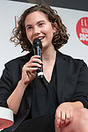British-Swiss model and actress Emma Ferrer speaks during the ELLE WOMEN in SOCIETY 2018 on June 16, 2018, Tokyo, Japan. The annual event focuses on working women's role in the Japanese society through various seminars where top businesswomen, celebrities and leaders are invited to speak. (Photo by Rodrigo Reyes Marin/AFLO)