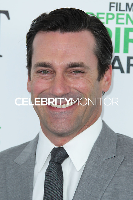 SANTA MONICA, CA, USA - MARCH 01: Jon Hamm at the 2014 Film Independent Spirit Awards held at Santa Monica Beach on March 1, 2014 in Santa Monica, California, United States. (Photo by Xavier Collin/Celebrity Monitor)