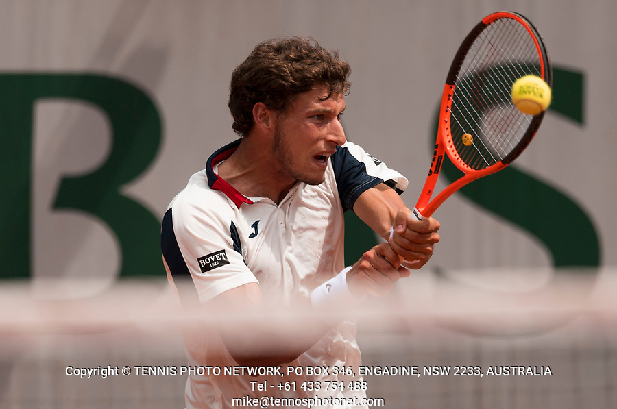 PABLO CARRENO BUSTA (ESP)<br /> <br /> TENNIS - FRENCH OPEN - ROLAND GARROS - ATP - WTA - ITF - GRAND SLAM - CHAMPIONSHIPS - PARIS - FRANCE - 2017  <br /> <br /> <br /> <br /> &copy; TENNIS PHOTO NETWORK
