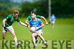 In Action Firies Jack Sherwood  and Skellig's Stephan O'sullivan and Seamus O'sullivan in the Co League Div 4 Firies v Skellig at Farranfore on Sunday