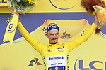 Julian Alaphilippe (FRA) Deceuninck-Quick Step retains the Yellow Jersey at the end of Stage 10 of the 2019 Tour de France running 217.5km from Saint-Flour to Albi, France. 15th July 2019.<br /> Picture: Colin Flockton | Cyclefile<br /> All photos usage must carry mandatory copyright credit (© Cyclefile | Colin Flockton)