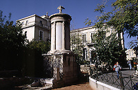 01 NOV 2003 - ATHENS, GREECE - The Monument of Lysikratous, built to commemorate the winners of the annual choral and drama festival. (PHOTO (C) NIGEL FARROW)
