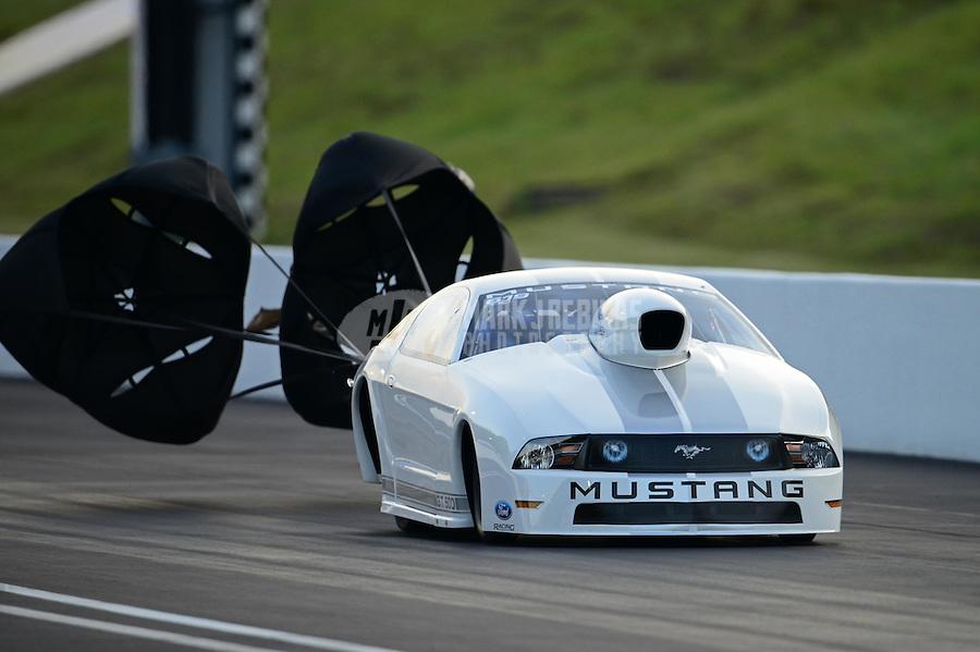 Jun. 15, 2012; Bristol, TN, USA: NHRA pro stock driver J.R. Carr during qualifying for the Thunder Valley Nationals at Bristol Dragway. Mandatory Credit: Mark J. Rebilas-