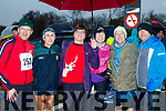 L-R Tommy Martin, Ann O'Leary, Joan Glover, Loretto O'Sullivan, George Glover with Mike Donovan taking part in the Maine Valley Athletic Club organised 5km run in Farronfore on St Stephans day.