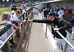 The Reno Aces prepare for a game at Greater Nevada Field in Reno, Nev., on Tuesday, April 26, 2016. <br />