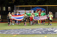 Buffalo, NY - Saturday Sept. 17, 2016: Thailand, Western New York Flash  prior to a friendly international match between the Western New York Flash and the Women's National Team of Thailand at Demske Sports Complex at Canisius College.