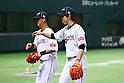 (L to R) .Sho Nakata (JPN), .Kenta Maeda (JPN), .MARCH 3, 2013 - WBC : .2013 World Baseball Classic .1st Round Pool A .between Japan 5-2 China .at Yafuoku Dome, Fukuoka, Japan. .(Photo by YUTAKA/AFLO SPORT)
