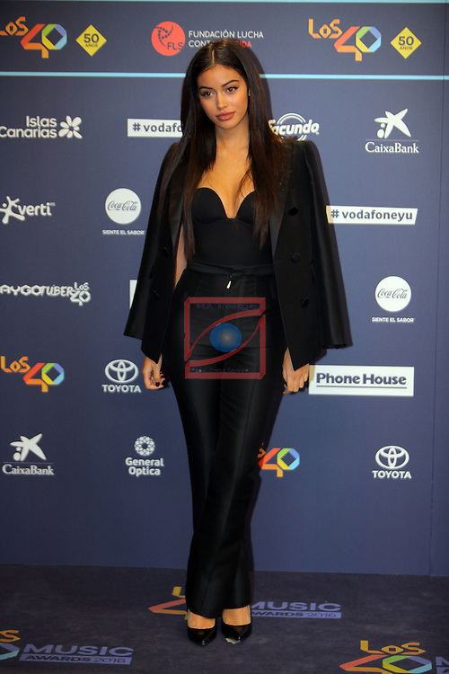 Los 40 MUSIC Awards 2016 - Photocall.<br /> Cindy Kimberly.