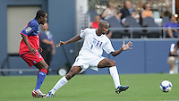 Allan Lalin (8) chases down the ball. Honduras defeated Haiti 1-0 during the First Round of the 2009 CONCACAF Gold Cup at Qwest Field in Seattle, Washington on July 4, 2009.