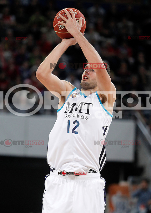 Real Madrid's Nikola Mirotic during Spanish Basketball King's Cup match.February 07,2013. (ALTERPHOTOS/Acero) /Nortephoto