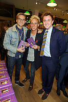 Oliver Proudlock, Jamie Laing and Francis Boulle at Book Launch