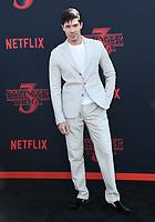 "28 June 2019 - Santa Monica, California - Lewis Tan. ""Stranger Things 3"" LA Premiere held at Santa Monica High School. <br /> CAP/ADM/BT<br /> ©BT/ADM/Capital Pictures"