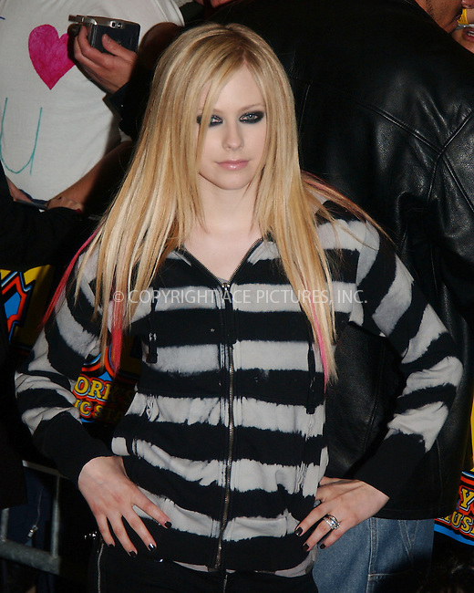 WWW.ACEPIXS.COM . . . . .  ....April 18 2007, New York City....Recording artist Avril Lavigne performed at the Virgin Megastore in Times Square, midtown Manhattan.....Please byline: KRISTIN CALLAHAN - ACEPIXS.COM.... *** ***..Ace Pictures, Inc:  ..Philip Vaughan  (646) 769 0430..e-mail: info@acepixs.com..web: http://www.acepixs.com