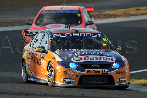 25.08.2012 Eastern Creek,Australia. Race 1 third place Trading Post FPR Fords  Will Davison in his Falcon FG   during the V8 Supercar Championship at the Sydney Motorsport Park,Australia