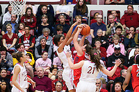 STANFORD, CA - February 16, 2014: Stanford Cardinal's Kailee Johnson during Stanford's 74-48 victory over Arizona at Maples Pavilion.