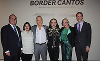 NWA Democrat-Gazette/CARIN SCHOPPMEYER Mexican Consul Rodolfo Quilantan Arenas and wife Patricia (from left), Richard Misrach, Guillermo Galindo, Alice Walton, Crystal Bridges founder and board chairwoman, and Rod Bigelow, museum executive director gather at the sponsor preview of Border Cantos: Sight & Sound Explorations from the Mexican-American Border on Thursday evening.