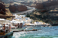 The village of Oia in Santorini, Greece on July 5, 2013.