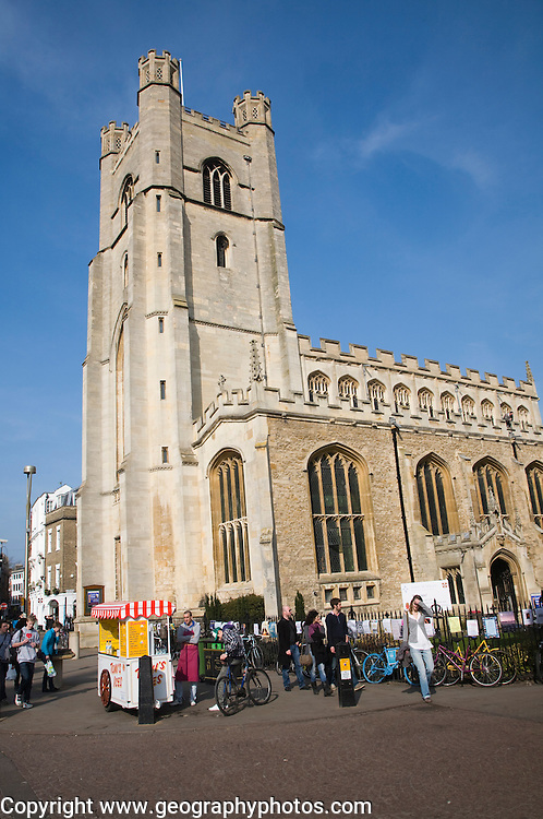 Great Saint Mary's church tower, Cambridge, England