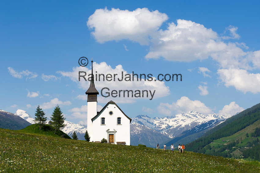 Switzerland, Canton Valais, valley Goms, Ritzinger field chapel at Gluringen