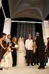 Israel, Tel Aviv-Yafo, a Jewish wedding, the bride and groom under the chuppah