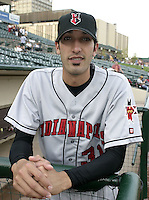May 14, 2004:  Pitcher Mike Adams (31) of the Indianapolis Indians, Triple-A International League affiliate of the Milwaukee Brewers, during a game at Frontier Field in Rochester, NY.  Photo by:  Mike Janes/Four Seam Images