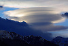 UNUSUAL CLOUD FORMATION APPEARS OVER THE SIERRA NEVADA MOUNTAIN RANGE NEAR LONE PINE CALIFORNIA