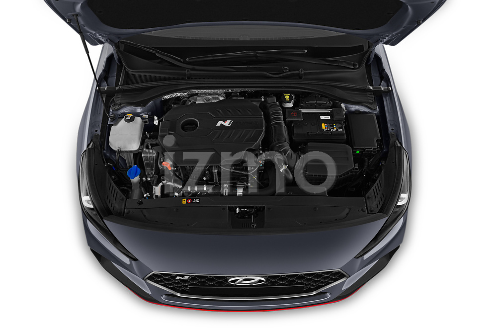 Car Stock 2019 Hyundai i30-Fastback-N Performance-Pack 5 Door Hatchback Engine  high angle detail view