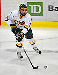 1 February 2008: University of Vermont Catamounts' forward Viktor Stalberg, a Sophomore from Gothenburg, Sweden, in action against the University of New Hampshire Wildcats at Gutterson Fieldhouse in Burlington, Vermont. The seventh-ranked Wildcats defeated the Catamounts 5-1in front of a sellout crowd of 4,003...Mandatory Photo Credit: Ed Wolfstein Photo