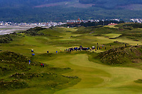 Play on the 3rd during the Matchplay Final of the Women's Amateur Championship at Royal County Down Golf Club in Newcastle Co. Down on Saturday 15th June 2019.<br /> Picture:  Thos Caffrey / www.golffile.ie<br /> <br /> All photos usage must carry mandatory copyright credit (© Golffile | Thos Caffrey)