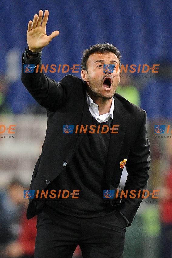 Luis Enrique, allenatore della Roma.Roma, 19/03/2012 Stadio Olimpico.Football Calcio 2011/2012 .Roma vs Genoa.Campionato di calcio Serie A.Foto Insidefoto Antonietta Baldassarre