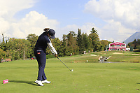 Angel Yin (USA) tees off the par3 5th tee during Thursday's Round 1 of The Evian Championship 2018, held at the Evian Resort Golf Club, Evian-les-Bains, France. 13th September 2018.<br /> Picture: Eoin Clarke | Golffile<br /> <br /> <br /> All photos usage must carry mandatory copyright credit (© Golffile | Eoin Clarke)