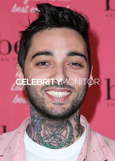 HOLLYWOOD, LOS ANGELES, CA, USA - SEPTEMBER 26: Romeo Lacoste arrives at the Benefit Cosmetics: Wing Woman Weekend Kick-Off Party held at the Benefit Tattoo Parlor on September 26, 2014 in Hollywood, Los Angeles, California, United States. (Photo by Xavier Collin/Celebrity Monitor)