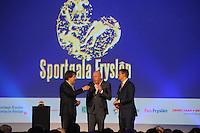 SPORT: HEERENVEEN: Trinitas, 30-01-2013, Sportgala Fryslân, Toine van Peperstraten, Frits Wester, Sybrand van Haersma Buma (CDA), ©foto Martin de Jong