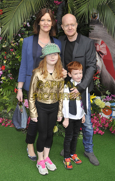 LONDON, ENGLAND - MARCH 30: Jake Wood &amp; his family attend the &quot;Rio 2&quot; VIP film screening, Vue West End cinema, Leicester Square, on Sunday March 30, 2014 in London, England, UK.<br /> CAP/CAN<br /> &copy;Can Nguyen/Capital Pictures