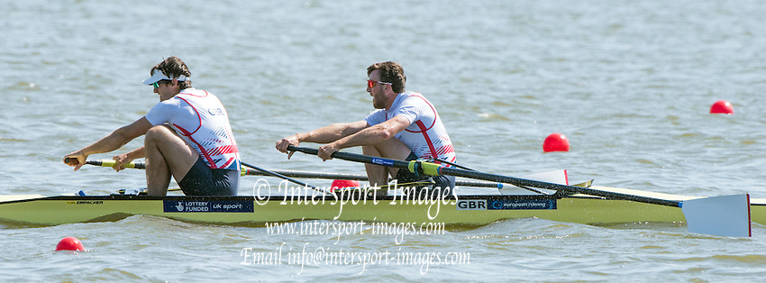 Brandenburg. GERMANY. GBR M2- Bow Alan SINCLAIR and Stewart INNES. <br /> 2016 European Rowing Championships at the Regattastrecke Beetzsee<br /> <br /> Saturday  07/05/2016<br /> <br /> [Mandatory Credit; Peter SPURRIER/Intersport-images]<br /> 2016 European Rowing Championships at the Regattastrecke Beetzsee<br /> <br /> Saturday  07/05/2016<br /> <br /> [Mandatory Credit; Peter SPURRIER/Intersport-images]<br /> 2016 European Rowing Championships at the Regattastrecke Beetzsee<br /> <br /> Saturday  07/05/2016<br /> <br /> [Mandatory Credit; Peter SPURRIER/Intersport-images]