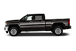 Car driver side profile view of a 2018 GMC Sierra 3500HD 2WD Crew Cab Standard Box SLT 4 Door Pick Up