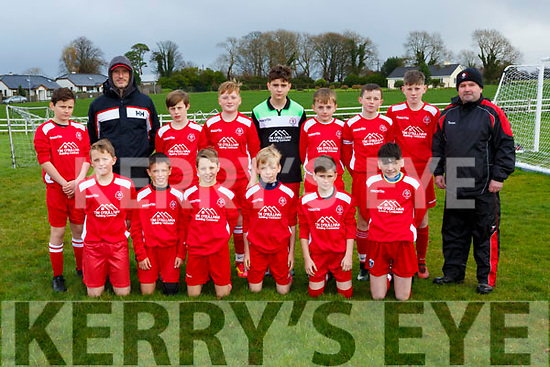 The Iveragh United team that played  Killorglin  in the u13 FAI cup in Killorglin on Saturday