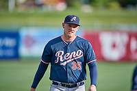 Kevin Cron (35) of the Reno Aces before the game against the Salt Lake Bees at Smith's Ballpark on June 27, 2019 in Salt Lake City, Utah. The Aces defeated the Bees 10-6. (Stephen Smith/Four Seam Images)