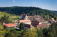 Germany, Baden-Wuerttemberg, Tauber Valley, Wertheim, district Bronnbach: Cistercian monastery Bronnbach - founded 1151 | Deutschland, Baden-Wuerttemberg, Taubertal, Wertheim, Ortsteil Bronnbach: Kloster Bronnbach, ehemalige Zisterzienser-Abtei, gegruended 1151