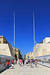 City Gate designed by Renzo Piano, 25m high metal blades, Valletta, Malta