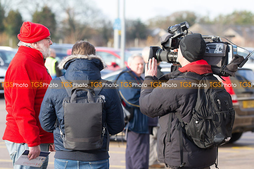 heightened media attention at the Weston Homes Community stadium for the visit of Crewe during Colchester United vs Crewe Alexandra, Sky Bet EFL League 2 Football at the Weston Homes Community Stadium on 26th November 2016