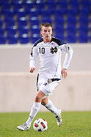 Chris Sutton (10) of the Notre Dame Fighting Irish. The Louisville Cardinals defeated the Notre Dame Fighting Irish 1-0 during the semi-finals of the Big East Men's Soccer Championship at Red Bull Arena in Harrison, NJ, on November 12, 2010.