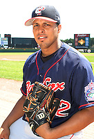 July 13, 2003:  Pitcher Dicky Gonzalez of the Pawtucket Red Sox, Class-AAA affiliate of the Boston Red Sox, during a International League game at Frontier Field in Rochester, NY.  Photo by:  Mike Janes/Four Seam Images